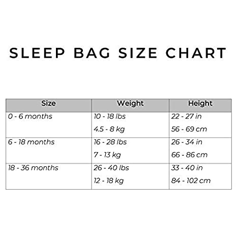 Made of Soft Bamboo Rayon Material 1.0 Tog Kyte BABY Printed Sleeping Bag for Toddlers 0 to 36 Months 0-6 Months, Creek