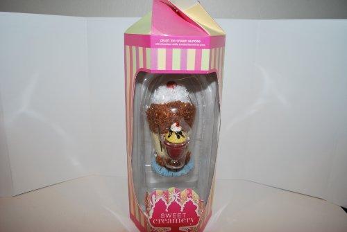 Lotta Luv Sweet Creamery Plush Ice Cream Sundae with Chocolate Vanilla Lip Gloss