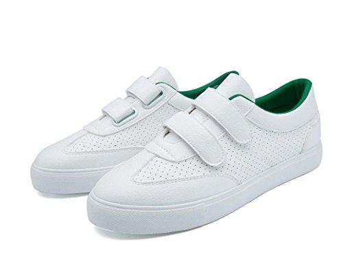 Colores Señora Green Ocio Compras 36 Tres PU Zapatos XIE Bottom Cómodo Blancos Zapatos Pequeños 37 Retro Movimiento Estudiantes Escuela GREEN Plano aqdWT