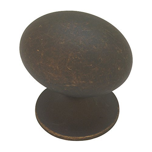 Liberty PN0393-OB-C 35mm Large Football Kitchen Cabinet Hardware Knob by (Oil Rubbed Bronze Football Knob)