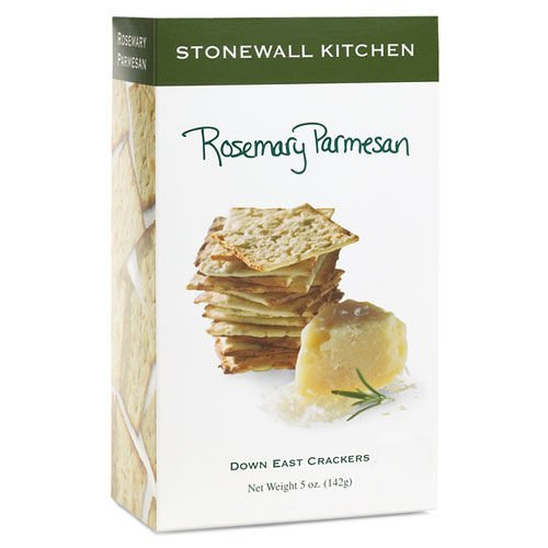 Stonewall Kitchen Rosemary Parmesan Crackers, 5 Ounce Box