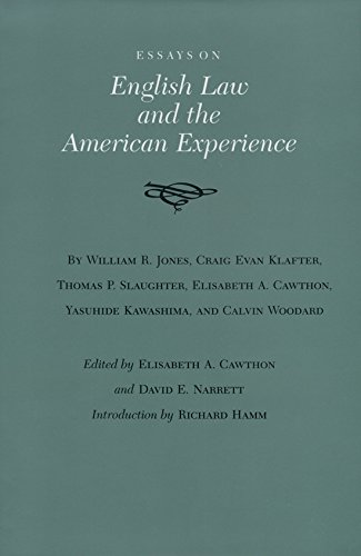 Essays on English Law and the American Experience (Walter Prescott Webb Memorial Lectures, published for the University of Texas at Arlington by Texas A&M University Press)