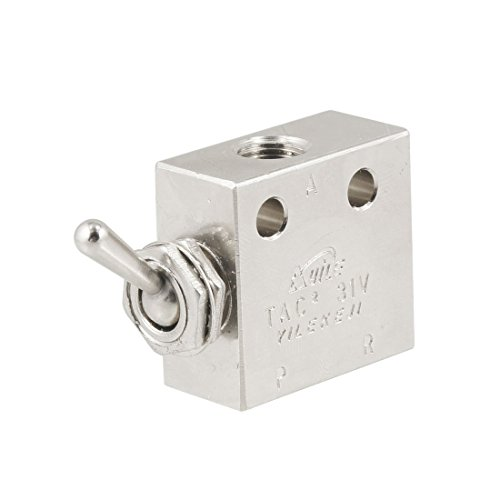 Cut Toggle Charm - uxcell TAC2-31V 2 Position 3 Way Air Pneumatic Knob Control ON OFF Toggle Valve