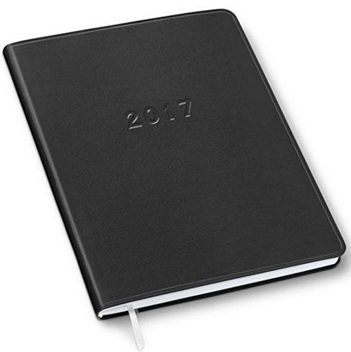 2016 2017 18 Months Monthly Large Black Cartier Planner Calendar  Including July 2016   December 2017  Made In Usa  Size  9 6   X 7 6