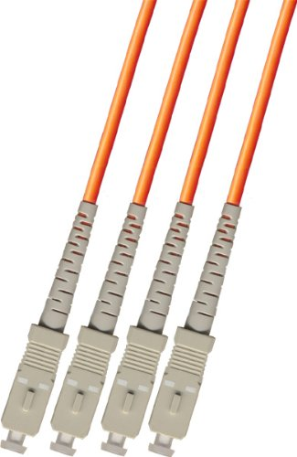 RiteAV - Direct Burial/Outdoor SC-SC 4-Strand Fiber Optic Cable - Multimode (50/125) - 75M