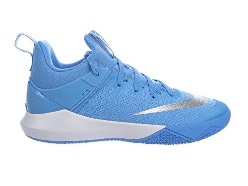 size 40 424ed 36233 Nike Hommes Zoom Shift Chaussures De Basket En Nylon Côte   Argent  Métallique   Blanc