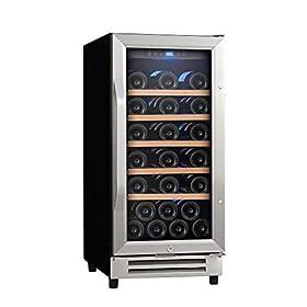 "Ausranvik 15"" 32 Bottle Built-in Wine Cooler..."