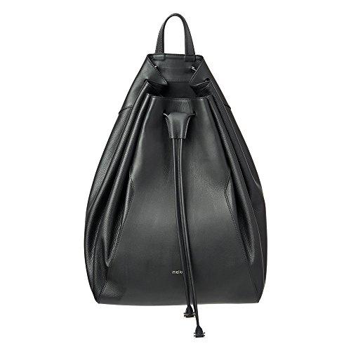 Melkco Fashion chic Mode Series secchio Backpark nella taglia L zaino in vera pelle (nero)