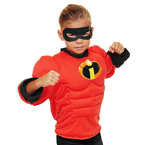 The Incredibles 2 Mr Muscle Shirt Deluxe Dress up Set with Sound Effects