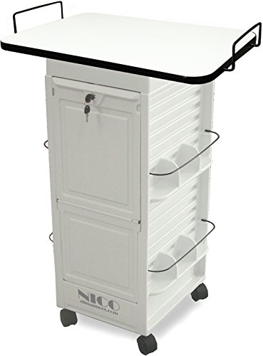 N20E-PLT Medical Physician Roll-About Trolley Storage Cart w/109 White Lam. top Made in USA