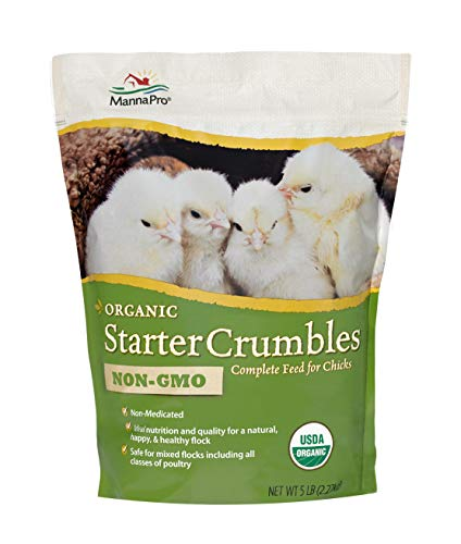 Manna Pro Organic Starter Crumble Complete Feed for Chicks, 5 lb