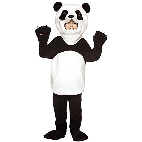 Child Deluxe Panda Bear Costume, Medium, Black and White