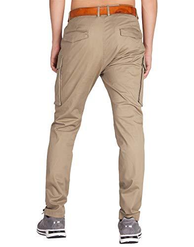 Colori Cachi Uomo Morn Jogging Chino 21 Multi Tasche Italy Cargo Casual Pantaloni xthQdsrC