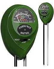 Soil pH Meter 3-in-1 Soil Tester Moisture, Light, pH, Meter Tool for Garden, Farm, Plant, Outdoor, Indoor, Lawn Care, Water Soil, Soil Hygrometer Sensor for Gardening