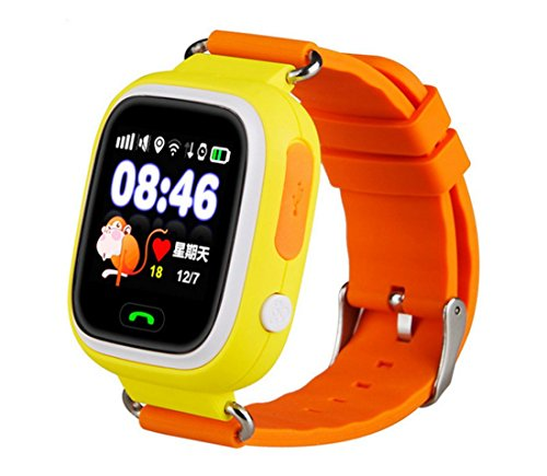 FROMPR Q90 Smart Children's Phone Watch Color Touch Screen GPS Positioning WIFI Children's Smart Watch (Orange)