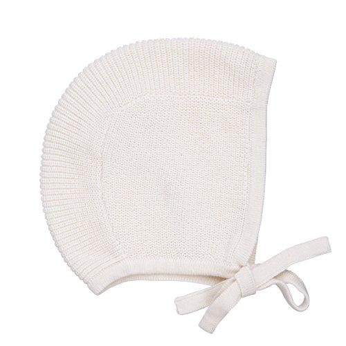 Baby Toddler 100% Cotton Knit Hat Bonnet Pilot Cap (0-6 Months, Ivory)