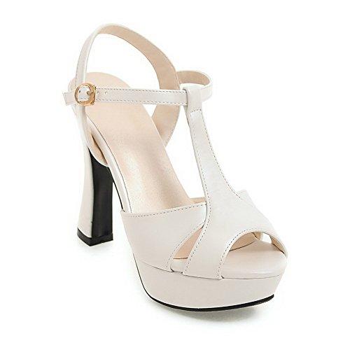 Femme SLC04103 Bout Blanc Blanc AdeeSu EU 5 36 Ouvert wtOFq1x1