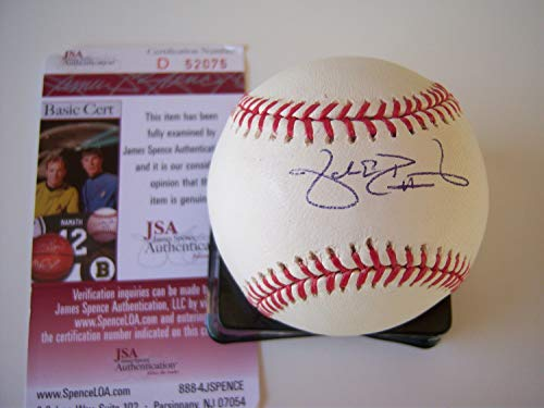 Jake Peavy Sandiego Padres Cy Young Memorabilia JSA/Coa Autographed Signed MLB Baseball]()