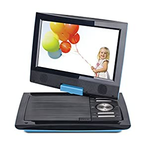 "Cinematix 70668-PG Portable DVD Player with 6 + Hour Battery Life, 9"", Baby Blue"
