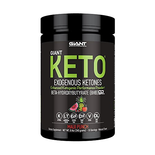 Giant Keto – Exogenous Ketone Supplement – BHB Salt Keto Powder, New and Improved Formula to Support Your Ketogenic Diet, Boost Energy and Burn Fat in Ketosis – Maui Punch – 15 Servings