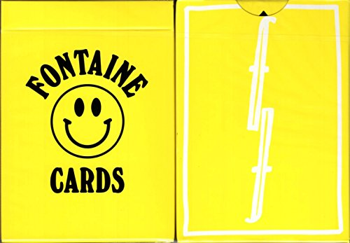 Fontaine Chinatown Market Playing Cards Poker Size Deck USPCC Yellow Limited by Fontaine