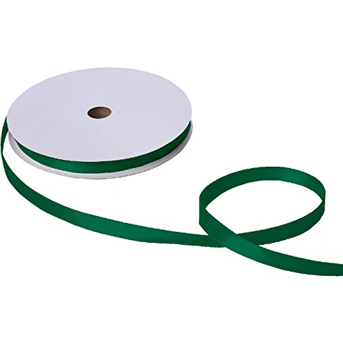 Jillson Roberts Bulk 5/8-Inch Double Faced Satin Ribbon Available in 21 Colors, Hunter Green, 100 Yard Spool (BFR0925)