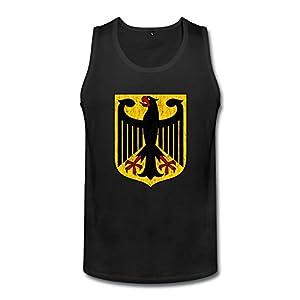 XL Bert Pandora Mens Distressed Coat Of Arms Of Germany Funny Tank Top