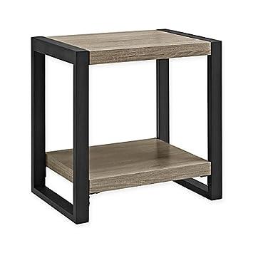 Walker Edison Urban Blend Side Table In Driftwood