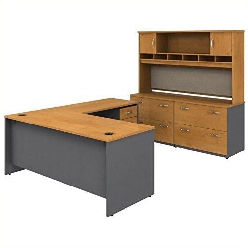 Bush Business Series C 6-Piece L-Shape Desk in Natural Cherry