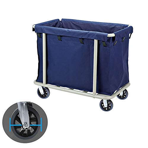 Laundry Sorter Cart YXX- Commercial with Silent Rubber Wheels, Removable Oxford Cloth Bags, Stainless Steel Bracket, Up to 200 Kg