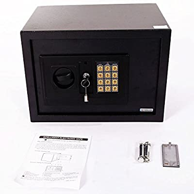 "Mefeir 9"" Electronic Digital Security Safe Box Keypad Lock, Home Office Hotel Jewelry Gun Cash Use Storage"