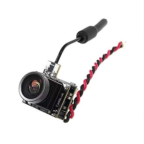 Meiyiu Caddx Beetle V1 5.8Ghz 48CH 25mW CMOS 800TVL 170 Grados Mini FPV C/ámara AIO Luz LED para RC Drone PAL 4 3