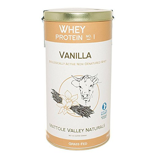 Organic Vanilla Whey Protein Powder – Biologically Active – No Antibiotics – Made From Happy Australian Open Pasture Grass fed Cows – Non GMO Certified – Bio Available Vitamin D – 16 ounce …