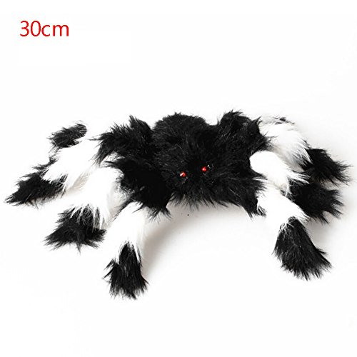 Scary Hallowen (Bestanx Hallowen Party Color Spider Plush Decoration Haunted House Scary Spider Halloween Dress Cosplay Party Outdoor Home Decor 11.8 inches(30cm))
