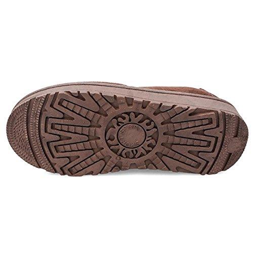 le Stivali scarpe bassa Pelliccia Poca Inverno Boots Inverno per pigre Inverno aiutare SHANGXIAN brown acqua PCZIqwUCx