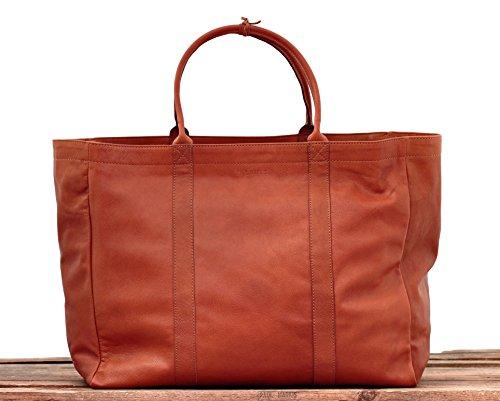 MON PARTENAIRE NATUREL tamaño L bolso de mano de cuero bolso de estilo vintage marrón PAUL MARIUS