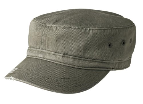 Joe's USA(tm Military Style Distressed Enzyme Washed Cotton Twill Cap-Olive