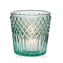 Luna Bazaar Victorian Elegance Vintage Green Glass