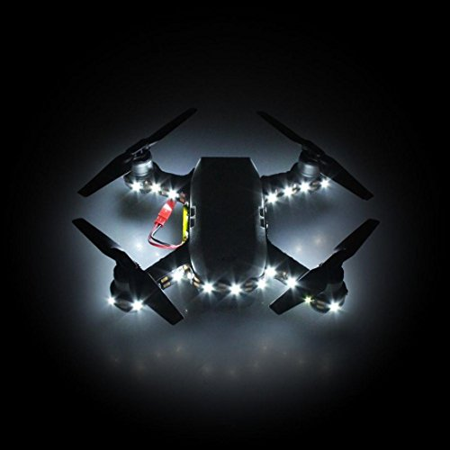 Putars Light Night Flying Decorative Lamp Night Cruise Light Led Strip For Dji Spark Independent Power Supply  Low Energy Consumption And Long Service Life   White