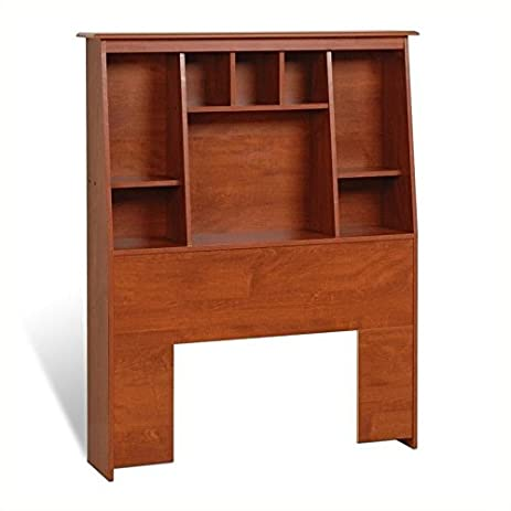 amazoncom prepac monterey twin tall bookcase storage bed in cherry kitchen u0026 dining
