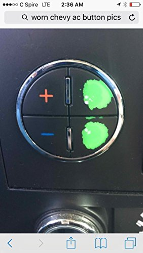 AC Button Repair Kit For Chevy Tahoe, Suburban, Avalanche, Silverado GMC Yukon, Denali, Acadia, Sierra, Buick Enclave - Easily Fix Your Ugly Faded A/C Controls For Your General Motors SUV - Trucks