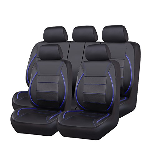solid blue car seat covers - 7