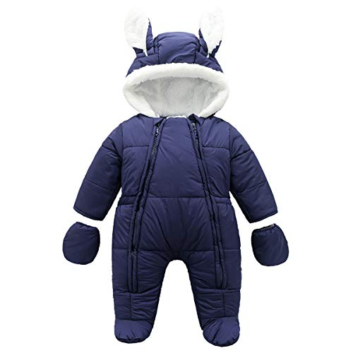 Infant Baby Boys Girls Snowsuits Overcoat Winter Warm Clothes Thicken Coveralls Outerwear 3-24 Months
