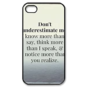 Positive Inspirational Quotes iPhone 4/4s Case Black Yearinspace954488