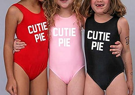 HK One Piece Swimsuit Kids Swimwear Girls Cutie Pie Summer Child Baby Beachwear