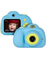 Miavogo Kinderkamera mit Dual-Objektiv 8 Megapixel 2 Zoll Display Kamera für Kinder (Blau)