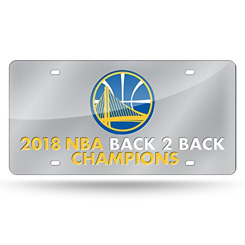 Rico Golden State Warriors Official NBA 2018 National Champions License Plate Mirror 387400 by Rico