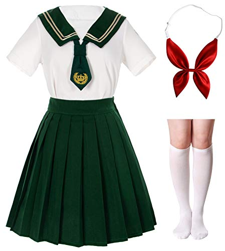 Japanese School Girls Sailor JK Uniform White