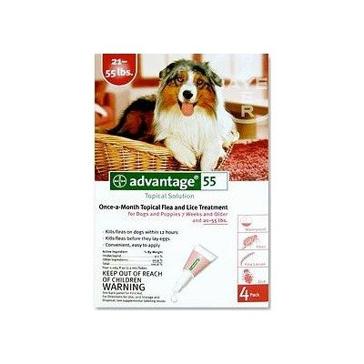 Flea Medication For Dogs Supply Size: 4 Month Supply, Pet Weight: 21 to 55 lbs, My Pet Supplies