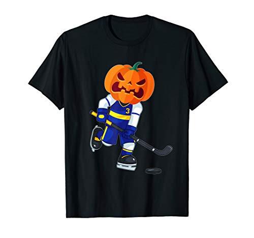 Halloween Pumpkin Hockey Player (Halloween Ice Hockey Player Pumpkin Head Scary Gift)
